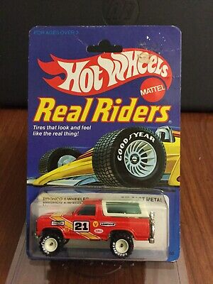 Hot Wheels Vintage Real Riders Bronco 4-Wheeler In BP. Red With White Hubs