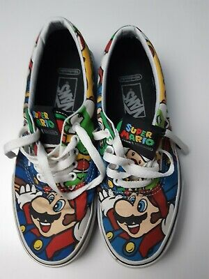 Nintendo X Vans Super Mario Friends Trainers ODD SIZED LEFT UK5 RIGHT UK6