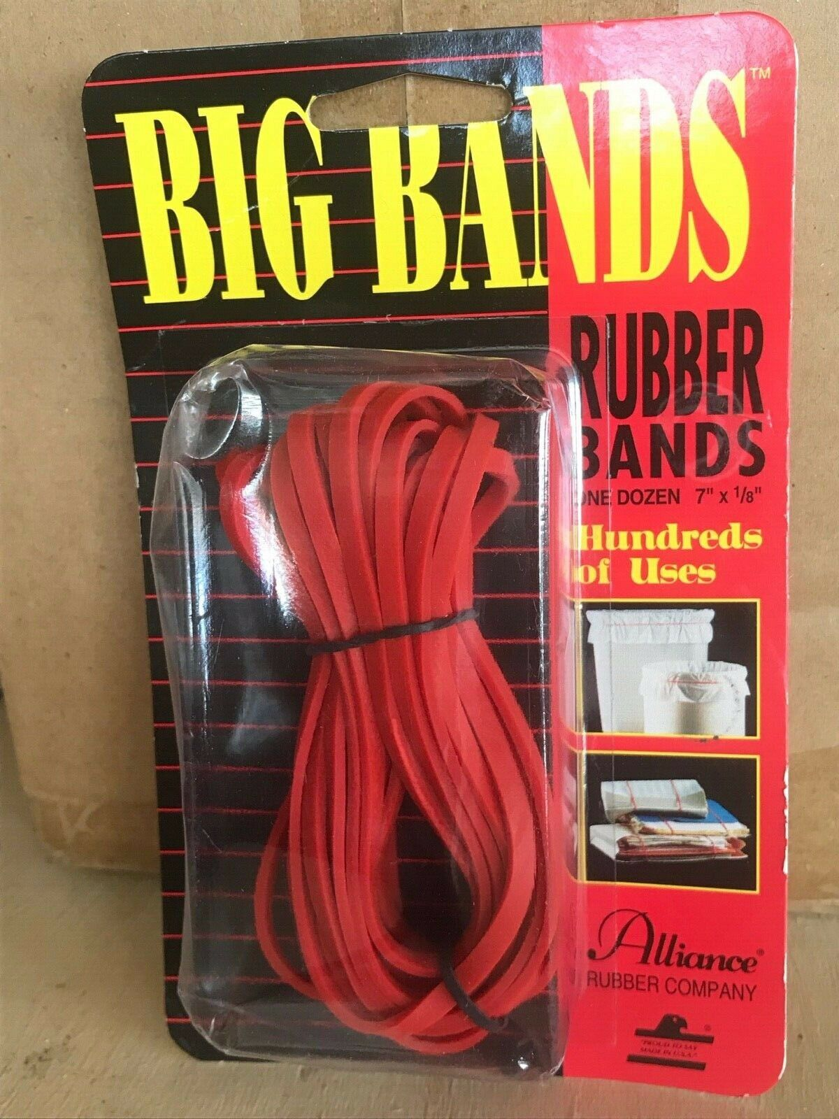 "Big Rubber Bands - 7"" Length X 1.8"" Width - 3pack of 12 = 36"