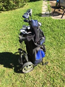 Men's Golf Club Set (R) and Cart