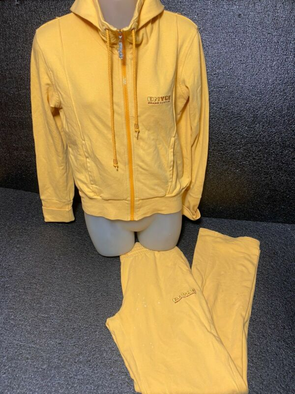 ENYCE VTG TRACK Suit 2PC HOODED  SIZE XL SOFT YELLOW