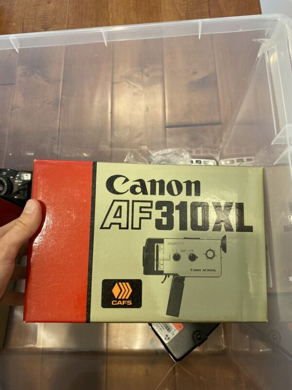 Mint + Canon AF310 XL-S super8 movie camera with New Film Tested & Working