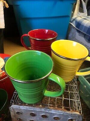 STARBUCKS Coffee Company Cups 2007 Pail Mug 14 oz Silver Rim