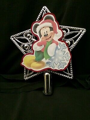 Disney inspired Mickey Mouse Christmas Tree Topper Ornament NEW Star top ()