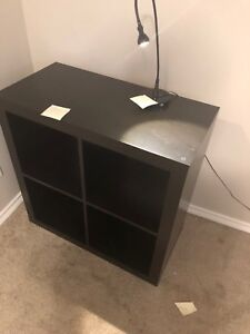 Book shelf / side table and light