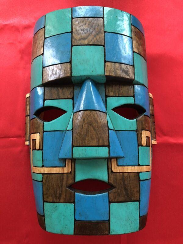 Mayan Mask in Wood Chac Mool