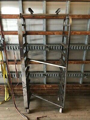 Stainless Steel B Lift 10 Slide Side Load Sheet Pan Bakery Z Rack Oven Cart