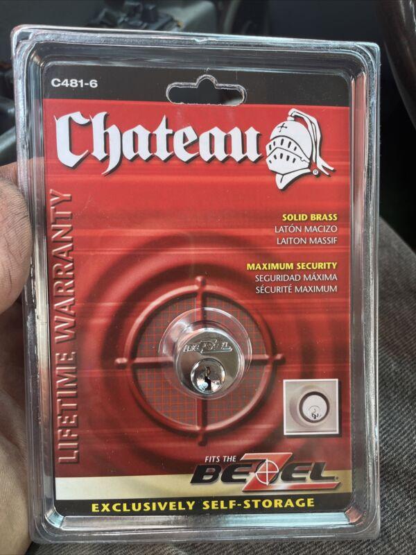 Chateau Cylinder Self Storage Lock C481-6 Bezel Lock with 3 Keys New