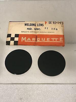 Vintage Marqutte Green Round Welding Lenses Nos In Original Sleeves