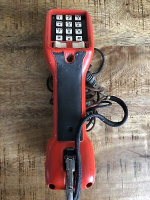 Harris-dracon Division Ts21 Test Set Lineman Red Yellow Handset F18