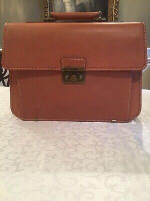 NWOT Hartmann Belting Leather Flap over Briefcase With Shoulder Strap Leather Flap Over Briefcase