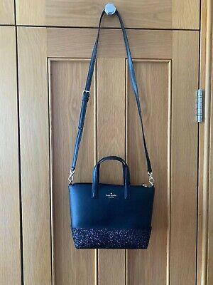 Kate Spade Greta Black Crossbody Handbag with Glitter Detail -NEW- RRP. $169 USD