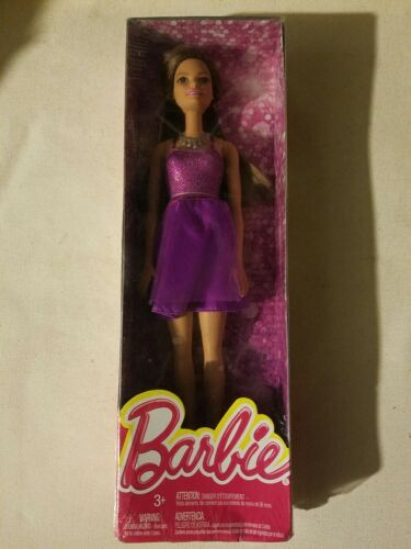 Mattel Barbie Glitz Doll In Purple Dress T7580 DGX81 NEW USA SHIPS FREE  - $16.39