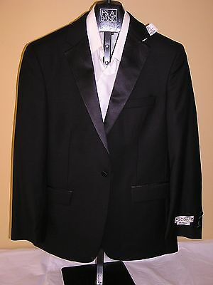 500 New Jos A Bank 1905 Tailored Fit Tuxedo Separate Solid Black Jacket 44 R