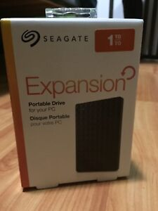 Seagate 1TB External Harddrive HDD UNOPENED! BRAND NEW!
