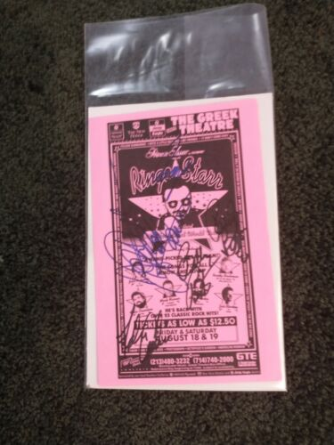 Beatles/Ringo Starr All Star Band Signed Flyer