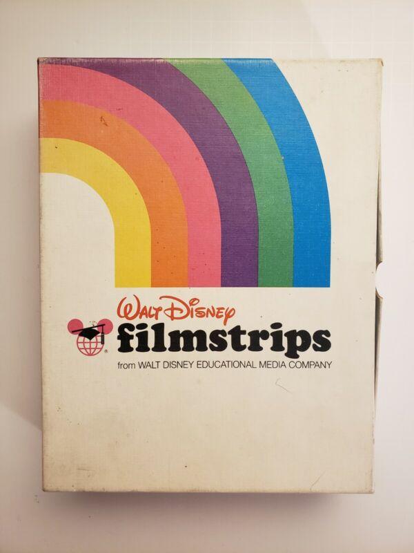 Walt Disney Filmstrips, Pecos Bill, Rare Find! (Total of 8 strips)