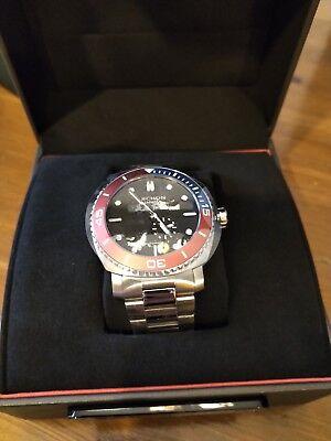 BNIB Archon Seafarer (SF05) Men's Automatic Dive Watch - Black Dial Pepsi Bezel Bezel Automatic Dive Watch