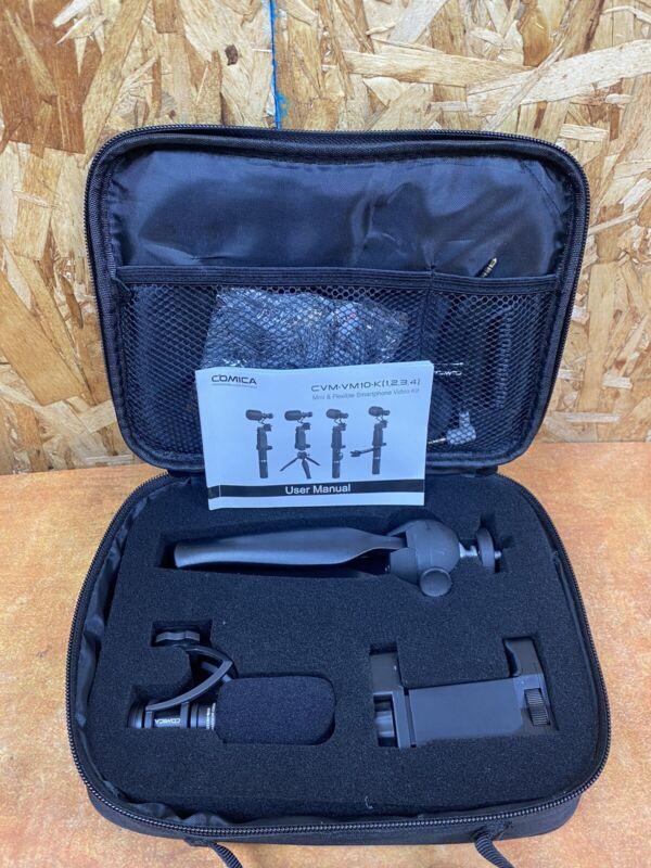 Comica CVM-VM10-K2 Shotgun Recording Microphone with Shock Mount and Mini Tripod