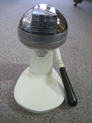 Vintage Juice King Juicer Model JK 30 Cream Color Enamel With Black Handle