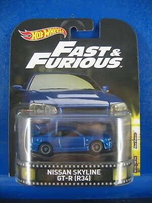 2018 HOT WHEELS FAST AND FURIOUS NISSAN SKYLINE GT-R R34