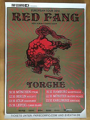 RED FANG - TORCHE 2016 TOUR  ++  orig.Concert Poster - Konzert Plakat  NEU