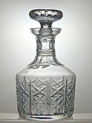 """EDINBURGH CRYSTAL """"HIGHLAND"""" CUT GLASS ROUND DECANTER - 8 1/2"""" TALL"""