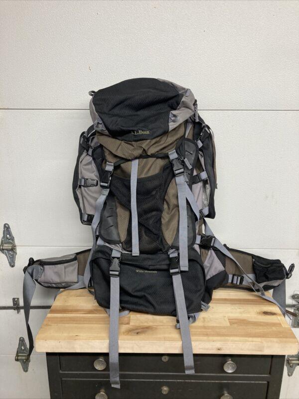 LL Bean White Mountain Backpacking Backpack 70 Liter No Size Adjustable Shoulder