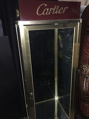 Cartier Display Case With Working Light And Thick Glass Shelf Beautiful Piece