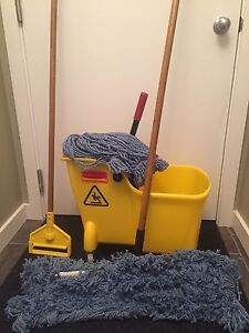 Rubbermaid commercial industrial floor mop and bucket