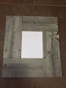 """11"""" - 8 1/2""""barn wood picture frame"""