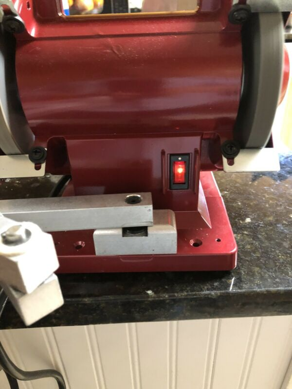 "WOLFF TWICE AS SHARP SCISSOR SHARPENER 5 "" BENCH GRINDER"