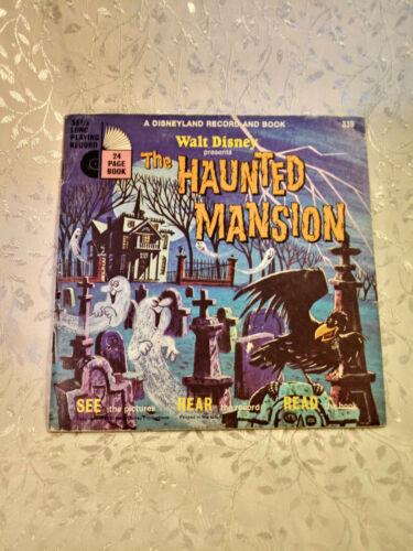 Vintage Disneyland Record and Book Walt Disney Presents The Haunted Mansion