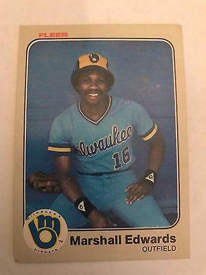 1983 Fleer Marshall Edwards Milwaukee Brewers 32