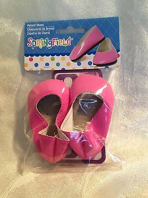 """Springfield Doll Clothes -Pink Slip On Shoes fits American Girl Or 18"""" Doll"""