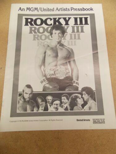 ROCKY III(1982)SYLVESTER STALLONE ORIGINAL PRESSBOOK NICE!