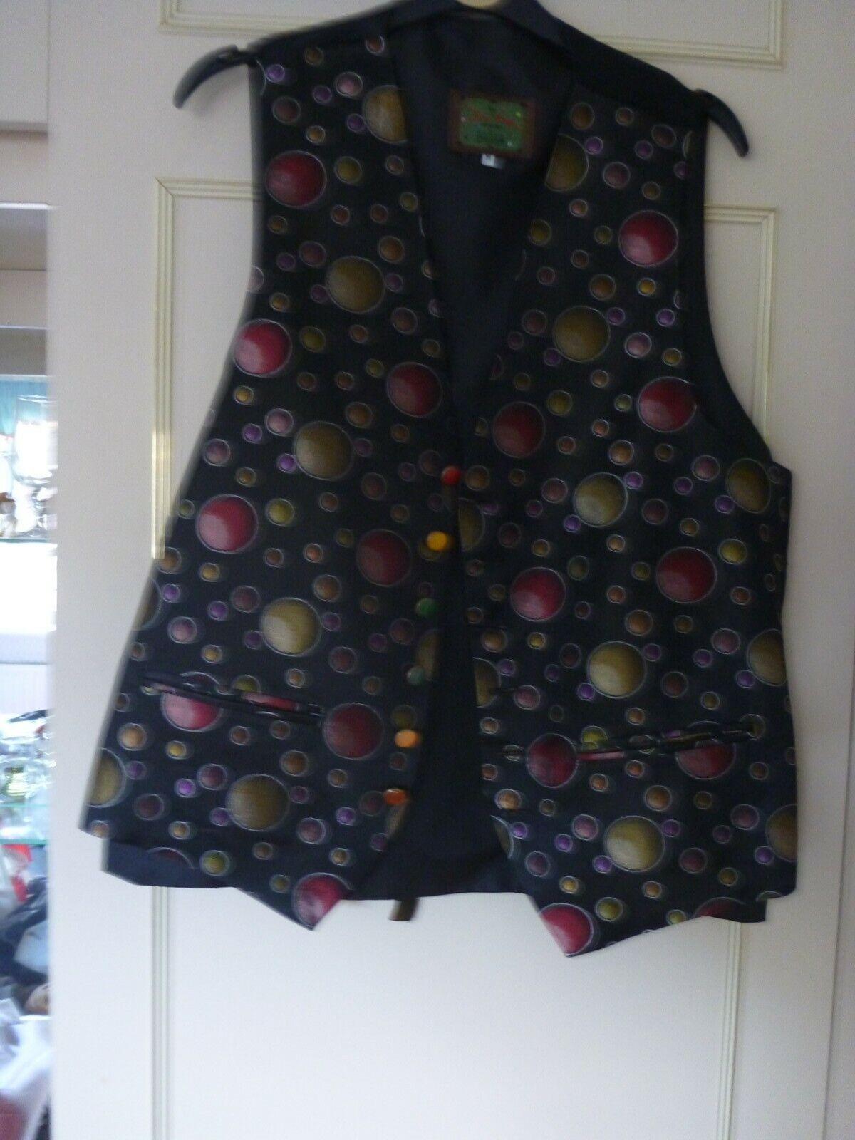 John Virgo patterned Medium size waistcoat