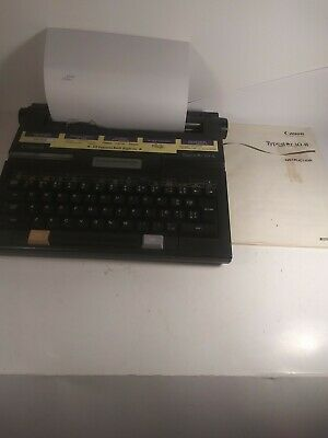 Canon Typestar 10-ii Electric Portable Personal Typewriter With Case.