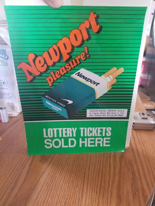 Newport cigarettes smoking tobacco store window sticker sign new
