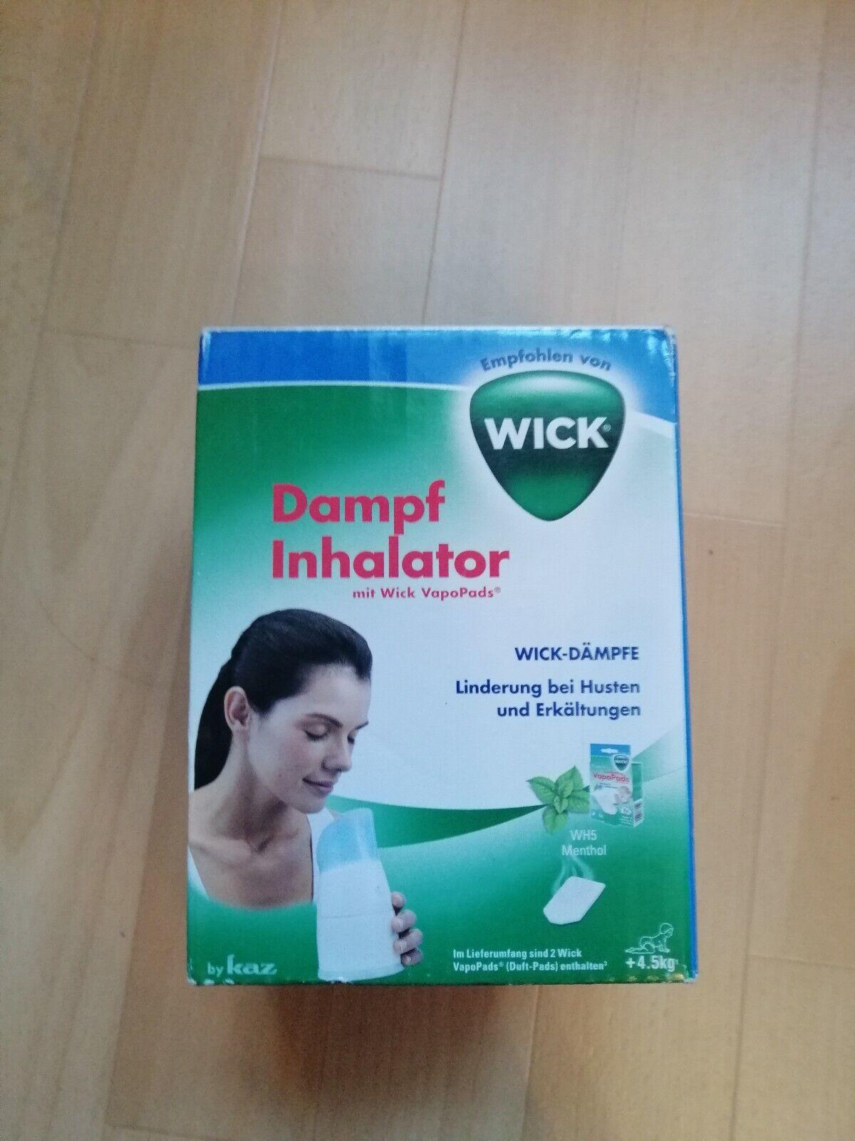Dampf Inhalator von Wick Neu und OVP