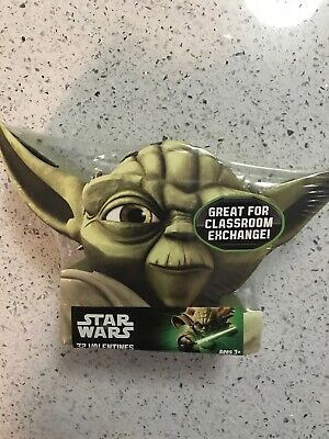 Star Wars 32 Valentine's Day Cards Valentines Classroom Exchange Cards Yoda - Star Wars Valentine Box