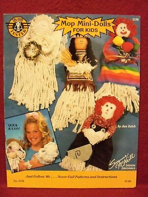 January Crafts For Kids (Mop Mini-Dolls for Kids by Jan Zelch (1990 Design Originals) Quick and)