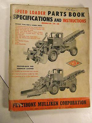 Pettibone 52 54 56 Speedloader Parts Book Manual Pmco