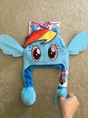 RAINBOW DASH My Little Pony Flipeez Action Winter Hat Hasbro NEW - My Little Pony Hat
