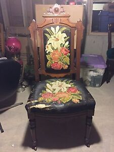 Embroidered East Lake chair.