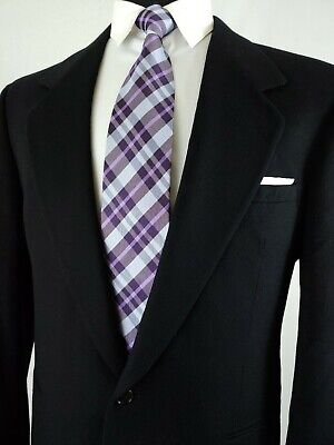 Vtg VERSACE Classic V2 Black Blazer Sport Coat Jacket Wool & Cashmere Size 40R