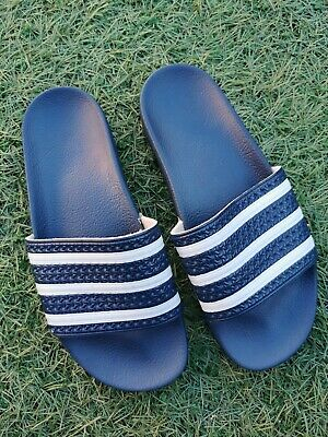 UK9 vintage Adidas Sliders made in Italy 2010