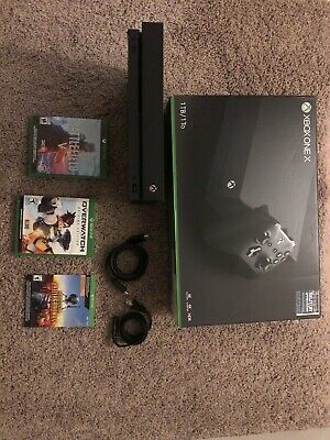 Microsoft Xbox One X 1tb 4k Ultra HD Gaming Console + 3 games, no controller