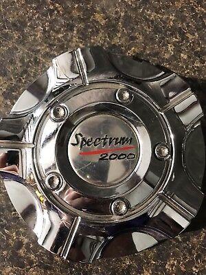 SPECTRUM 2000 CHROME CENTER CAP/CHROME WHEEL/RIM CAP-# PCA0290-GREAT SHAPE(1EA) (Spectrum Locations)