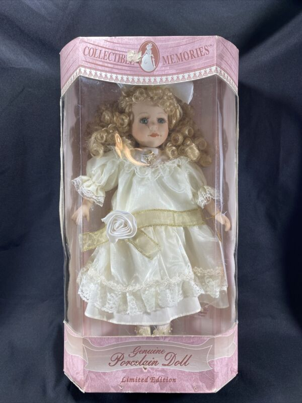 Porcelain Doll- Collectible Memories Victorian Doll Blonde Curls Limited Edition